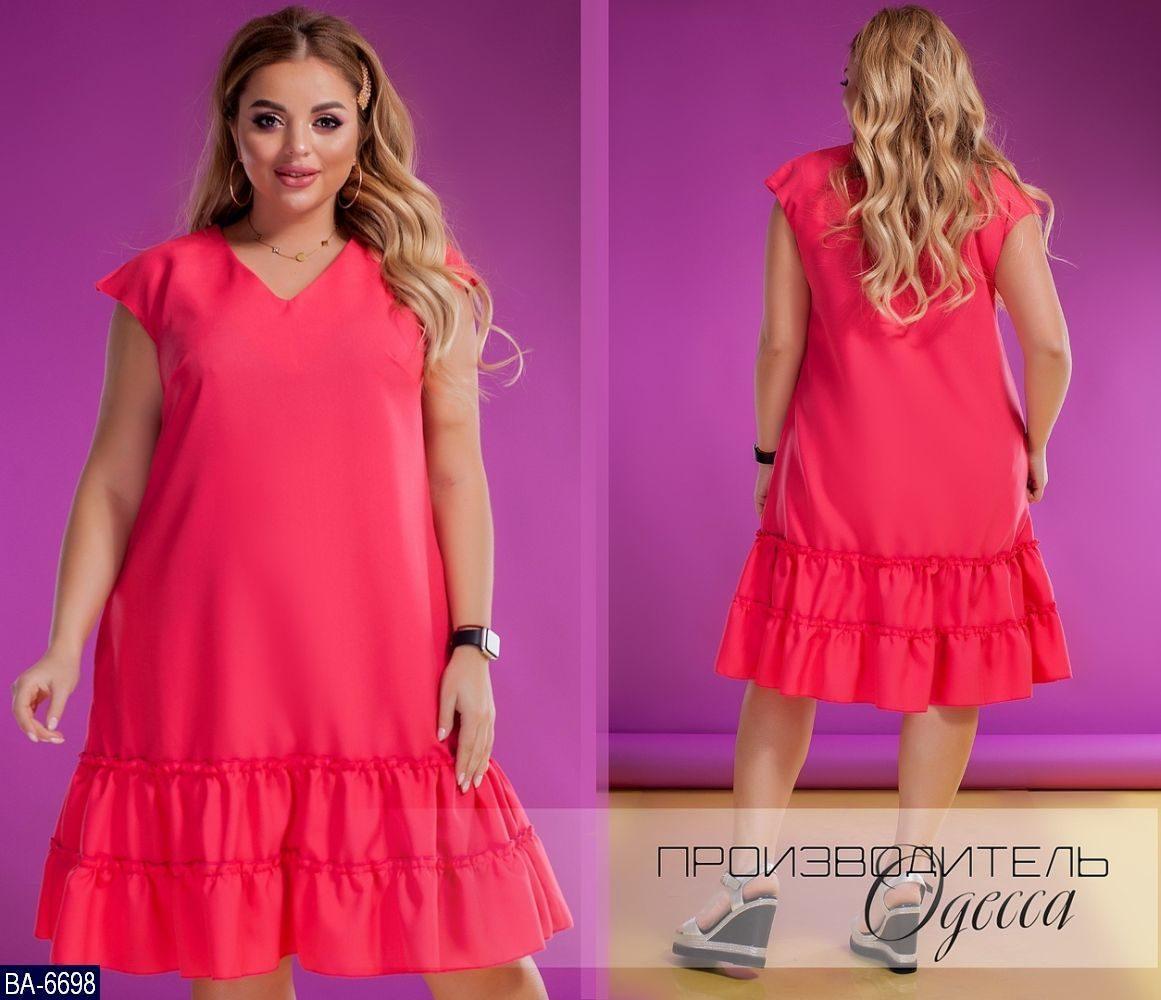 Стильное платье    (размеры 50-60)  0181-62
