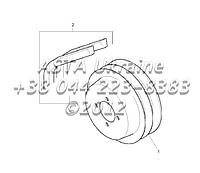 Шкивы, двигатель 1104C-44Т, RG38101 Г1-6-2