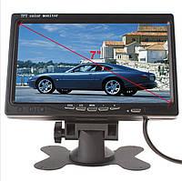 """Монитор 7""""дюймов в автомобиль, на 2 камеры для с/х техники, спецтехники, Грузовой транспорт"""