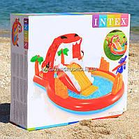 Надувной игровой центр Intex 57160 «Счастливий Дино» с горкой