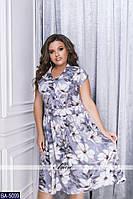 Стильное платье    (размеры 52-58)  0181-70
