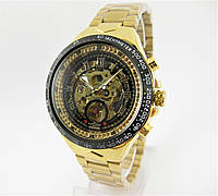 Часы Winner Skeleton Gold/Black 43mm (ORIGINAL).
