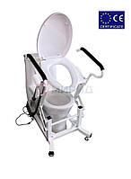 Кресло для туалета подъемное. Стул туалет. Управление с помощью пульта.