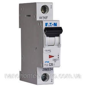 Автоматический выключатель Eaton-Moeller PL6 1P 20A  - NanohomeElectro в Днепре