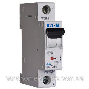 Автоматический выключатель Eaton-Moeller PL6 1P 25A  - NanohomeElectro в Днепре