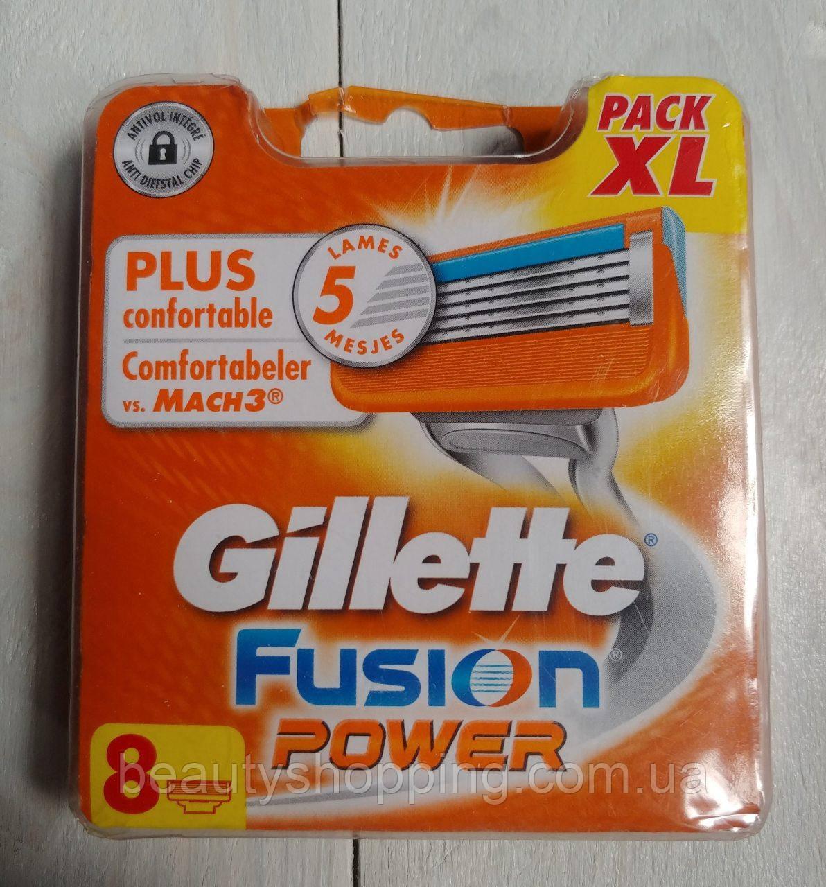 Картридж для бритья Gillette Fusion Power 8 шт