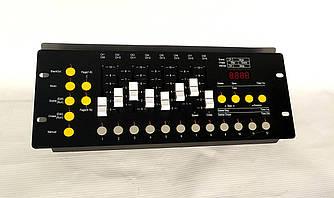 Пульт DMX 192 для управления световыми приборами и генераторами спец эффектов