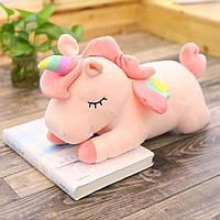 Мягкая игрушка Единорог 30 см розовый