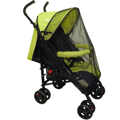 Чёрная универсальная москитная сетка большая на детскую коляску люльку прогулку всех типов 115х75 3966 Чёрный
