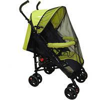 Чорна універсальна москітна сітка велика 120х60 на дитячу коляску люльку прогулянку всіх типів 3966 Чорний