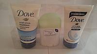 Набор Dove (гель для умывания лица глубокое увлажнение + дезодерант огурец + крем для рук) сделано в Израиле, фото 1