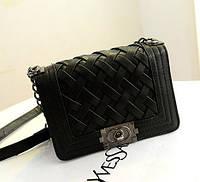 Женская сумочка Шанель бой. Черная