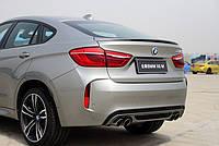 Cпойлер багажника (сабля, утиный хвостик, лип спойлер) BMW X6 F16 2014+ г.в. стиль M-style ABS пластик, фото 1