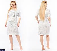 Стильное платье    (размеры 50-64)  0181-87, фото 1