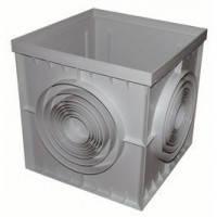 Дождеприемник PolyMax Basic 40.40 пластиковый серый