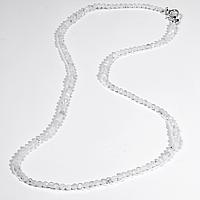Бусы шнурок из лунного камня адуляр, Ø2,5 мм., 41 см., 618БСА