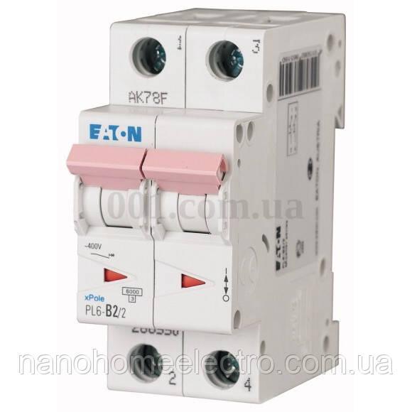 Автоматический выключатель Eaton-Moeller PL6 2P 2A