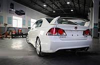 Спойлер багажника 3-х составной Honda Civic седан 2006-2011 г.в. стиль Mugen