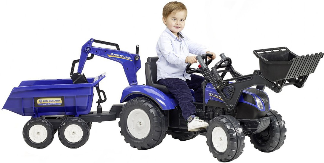 Педальный трактор New Holland, Falk 3090W . Машинка для детей