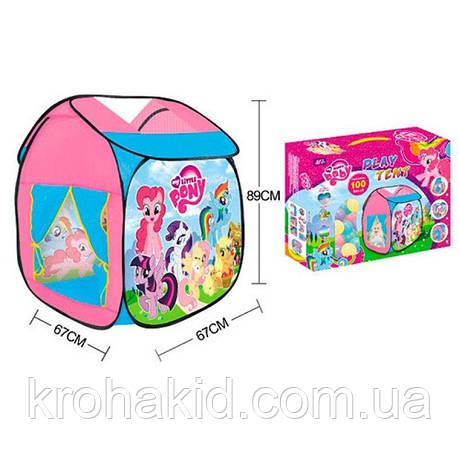 Палатка детская игровая Пони My little Pony M 5778 LP, домик, 67-87-89см, 2 входа, накидка-липучка, , фото 2