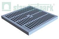 Решетка к дождеприемнику PolyMax Basic 54.54 щелевая пластиковая серая