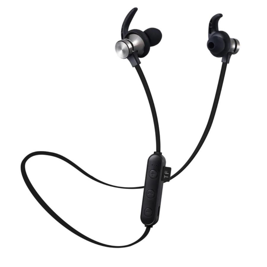Беспроводная гарнитура 2в1 bluetooth-наушники + MP3-плеер (черный)