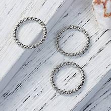 Кольцо закрытое круглое 18 мм жгут платина для рукоделия