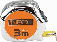 Рулетка со стальной лентой 3м*16мм Neo 67-143