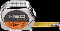 Рулетка, стальная лента 8 м x 25 мм Neo 67-148