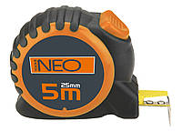 Рулетка, стальная лента, 5 м x 25 мм, с фиксатором selflock Neo 67-165