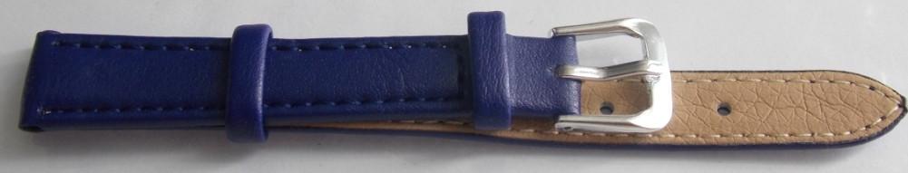 Ремешок кожаный LUX-PL (Польша) 12 мм, темно-синий