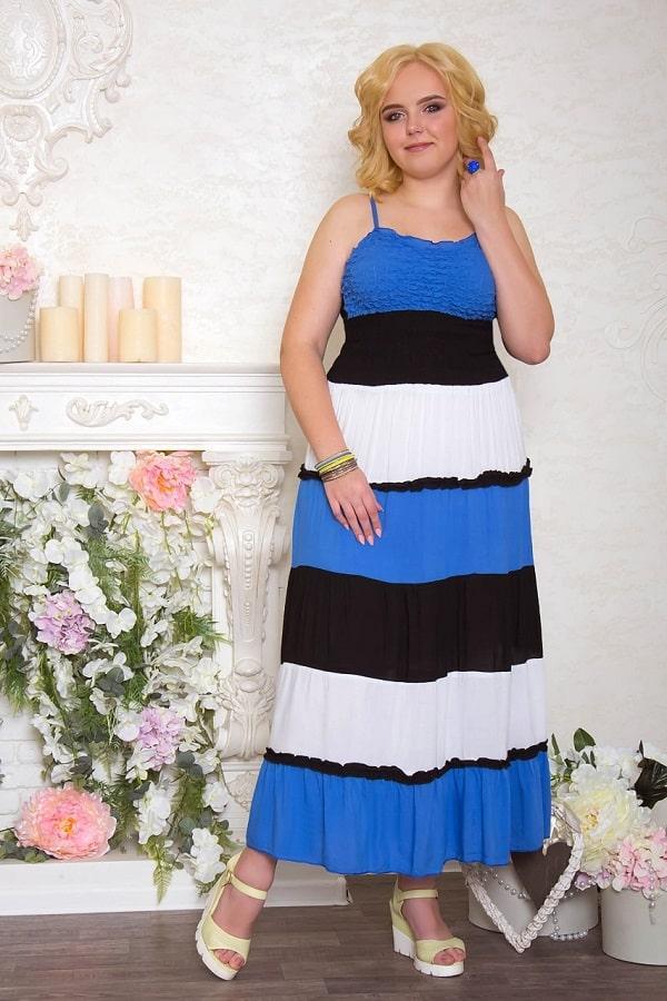 Летнее длинное платье купить в интернет магазине