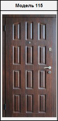 Металеві двері з зовнішніми МДФ (16мм) накладками