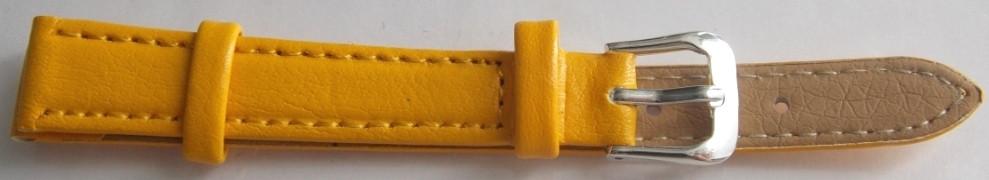 Ремешок кожаный LUX-PL (Польша) 12 мм, желтый