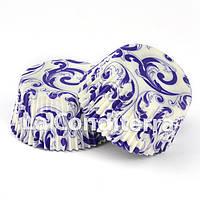 Бумажные формы для кексов «Узор фиолетовый» (Ø50 мм), мин. партия от 2000 шт.