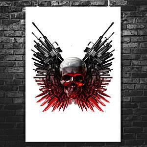 Постер Неудержимые, The Expendables, лого. Размер 60x43см (A2). Глянцевая бумага