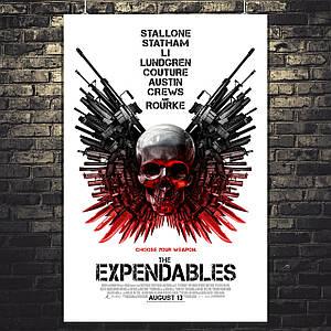 Постер Неудержимые, The Expendables, лого. Размер 60x40см (A2). Глянцевая бумага