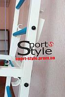 Брусья навесные универсальные шведской стенки РЕКОРД с мягкими подлокотниками для прокачки нижнего пресса (поднятием ног) и держателями штанги