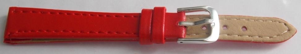 Ремешок кожаный LUX-PL (Польша) 12 мм, красный