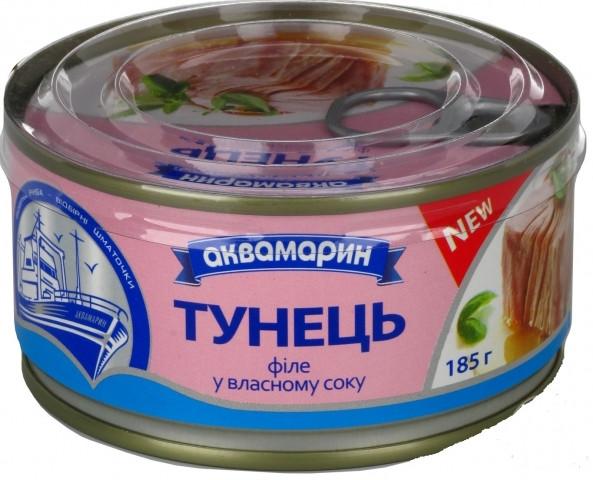 Філе Тунець у власному соку 185 грам