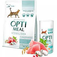 Сухой корм для стерилизованных кошек Optimeal - индейка и овес 10 кг