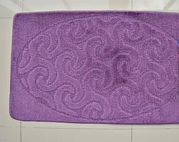 Сиреневые коврики для ванной