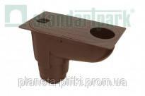 Дощоприймач PolyMax Basic 30.16 пластиковий з вертикальним відводом /коричневий/