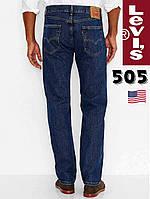 Джинсы мужские Levi's®505(Dark Stone) - 4886 / прямой покрой / 100% хлопок / из США