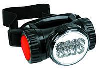 Фонарик налобный, 8 х LED; батарейки 4xAAA Topex 94W816
