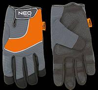 "Перчатки рабочие, спилок, PCV, размер 10.5"" Neo 97-605"