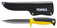 Нож универсальный, с кожанным чехлом Topex 98Z103