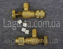 Переходник - нажималка для заправки кондиционеров работающих на фреоне R410a и R22a (пара), фото 3
