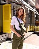 Комбинезон льняной женский летний с карманами размеры:42-44,46-48,50-52,54-56, фото 5