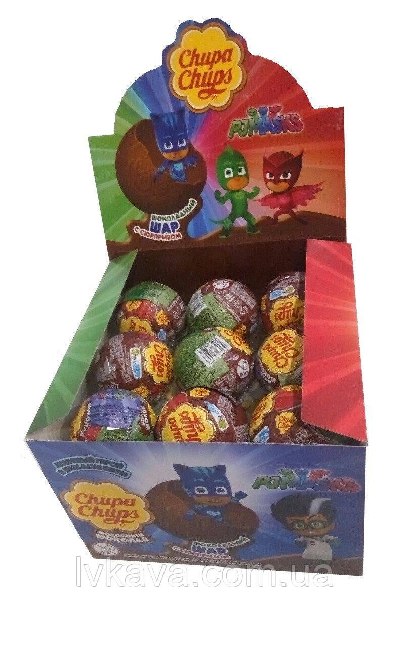 Шоколадный шар PJMasks ( Герои в масках ) Chupa Chups с сюрпризом , 20 g X 18 шт
